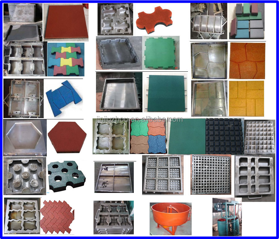 Rubber flooLXB-550*550*4 r molding press /rubber tiles production / rubber tiles production machine