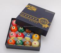 Professional Standard diameter 57.2mm 2-1/4 inch 5 star TV Crystal Pool ball set 16pcs, Unique custom Billiard ball