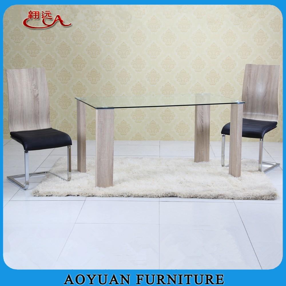 New model glass fiber dining table set buy fiber dining for New model dining table