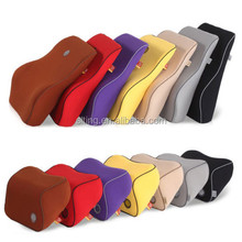 New Patented 2015 hot sale Memory Foam Car set Lumbar Cushion and Neck Pillow with multiple color cover