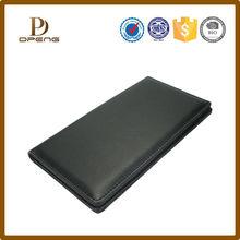 Hot sale black high quality Leather purse leather folder,wholesale leather office set