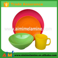 2015 New design 20pcs melamine tableware