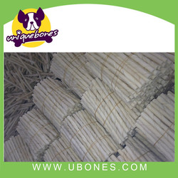 pet chews dog chewing 100%rawhide material bleached twist sticks dog products EU wholesale