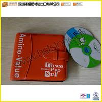 Orange Leather CD Bag, Imitation Leather DVD Holder