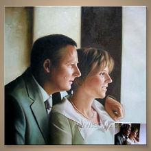 de alta calidad pareja pintura al óleo retrato