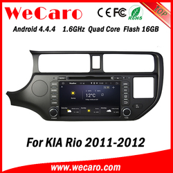 Wecaro WC-KU8047 Android 4.4.4 car stereo 2 din for kia rio car radio stereo mirror link 2011 2012