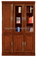 Solid wood office cabinet/glass display filing cabinet/modern home office furniture(FOH-B309)