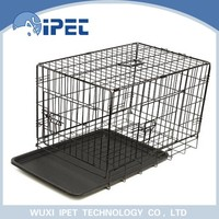 Wholesale outdoor display wire pet cage with ABS pan