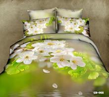 Flores de primavera 3D juego de cama