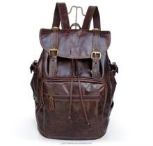 7047R Vintage Tan Leather Hiking Backpack Travel Camping Bag