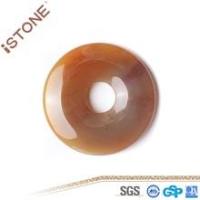 New 38 * 5.2 MM semi-preciosas ágata pedra Donut