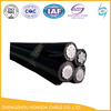 NFC Standard Black Color XLPE Insulation Supporting Aerial Cable