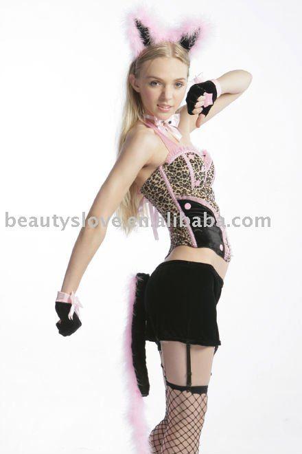 Ladies ' sexy Dancewear del gatito erótica traje de gato