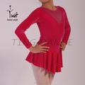 Rojo sh046-6 latina cómodo traje de la danza
