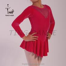 SH046-6 red comfortable latin dance costume
