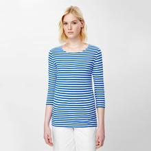 100% Linen Stripe Design Fashion blouses Custom t shirt turkey