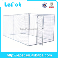 Outdoor Dog Kennel 7.5x13x6 Safety Run Fence Cage Metal Chain Link With Door