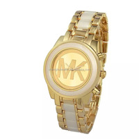 alloy good quality water resistant gold and rose gold mix colors watch for women