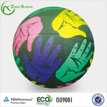 Zhensheng Fashion Design Rubber Balls Rubber Basketballs