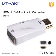 MT-VIKI portable mini HDMI to VGA video converter ,HDMI to VGA graphic adaptor with resolution up to 1920*1200 MT-3004
