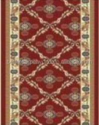 Nylon continous putting diamond red hotel carpet nylon printed carpet