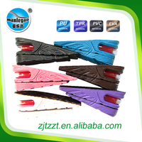 PVC888-air cushion shoes insole hard plastic,women shoe PVC insole 2 layer height increasing Plastic men footbed