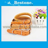 2014 Fashionable Pure Cowhide Pet Collars/colorful leather tpu/pvc pet collars easy lacing