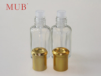 Wholesale 10ml 12ml refillable empty clear glass perfume bottle with plastic applicator