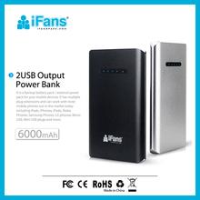 Powerful Portable Backup Battery Charger Power Bank with Dual USB output with CE ROHS FCC license