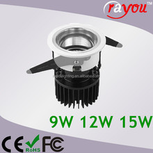 85lm/w 12w cob led downlight, ce downlight led for indoor light