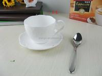 Hot sale espresso coffee cup& saucer custom printing hotel & restaurant offer