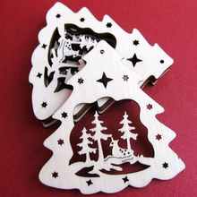 Laser Cut Plywood Hanging Tag for Christmas Decoration,Customized Holidays Hanger tags