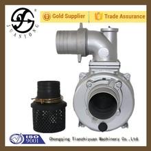 WP100 gasoline 4 inch water pump water walking ball self priming 7 suction pump