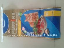 Nuevo laminado bolsa de comida pp bopp marca 25kg