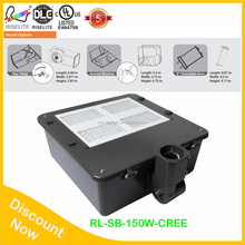 highway buildings, villas, gardens, 150W 110lm/w UL&cUL led parking lot light shoebox area light shoe box lighting