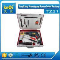 KaQi professional tool sets13mm impact drill 75pcs complete tool box set