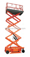 CE proved Self propelled Full electric scissor lift from 6.6m -16m JCPT6-JCPT16