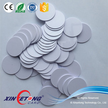 Diameter 25mm 125KHZ R/W Hitag S Chip Hard PVC RFID Disc Tag