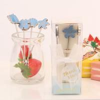 wedding favor gift and giveaways for guest -- Seaside Hors d'oeuvre Picks Fruit fork(set of 4 picks) party Gifts 100sets/lot