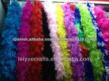 venta al por mayor de color amarillo turquía boa de plumas para el carnaval