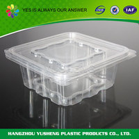 Recycling and non-toxic transparent disposable fruit salad packaging