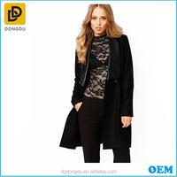 European Fashion Design Cheap Coat Women 2015 Brand Lady Slim Formal Businss Overcoat Dongguan Factory Wholesale Supplier