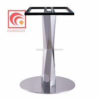 modern stainless steel dining table legs, stainless steel base, metal dining table legs