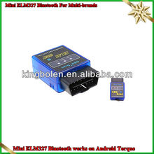 Super mini ELM327 Bluetooth OBD-II OBD the smallest around the world V2.1 can Works On Android Torque
