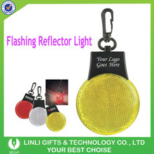 Supplies Bulb Shape Reflective Promotion LED Key Holder With Custom Logo For Cheap Wholesale/Safety Warning