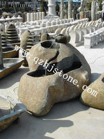 outdoor garden stone water bowl /stone fountain carving