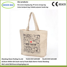 Hot sale custom made logo printing canvas expandable file tote bag