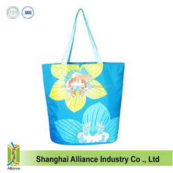 Women Fashion Large Capacity Nylon Beach Tote Bag,Summer Flower Printing Handbag FH152