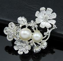 fresh small flower crystal jewelry brooch