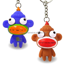 Top quality 3D new design put out eyes plastic key chain